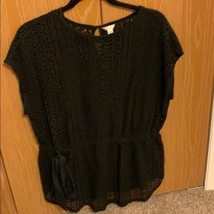 Black Lace top with cami size 14/16w